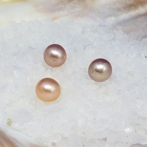 Freshwater Cultured Pearl 6.5 mm Peach Undrilled